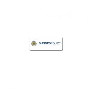 Bundespolizei Typ2 Aufkleber BPOL Bundesrepublik Deutschland 10x4cm#A3724