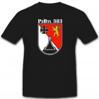 Panzerbataillon 383 Pzbtl 383 Militär Bundeswehr Einheit Wappen - T Shirt #2638