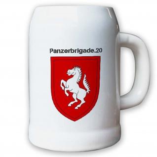 Krug / Bierkrug 0, 5l -Bierkrug Panzerbrigade 20 PzBrig Brigade Einheit #13010