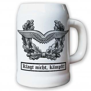 Krug / Bierkrug 0, 5l - Barettabezeichen Luftwaffe Schirmmütze BW #10920