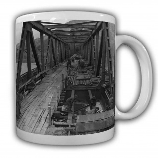 Behilfsbrücke Remagen US Soldaten Army Militär America Brückebau Rhein #22539