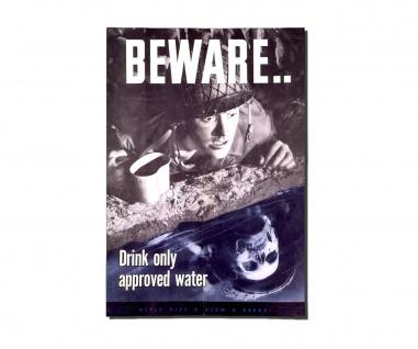 Poster Sei Vorsichtig trinke nur freigegebenes Wasser XXL ab 30x21cm #30950