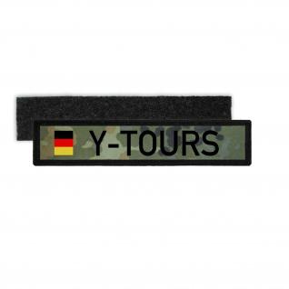 Namenspatch Y-Tours Bundeswehr Flecktarn Camo Kennzeichen Heer Fun #30635