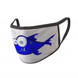 Mundmaske Psycho Fisch Mund Bedeckung Nasen Maske#34811