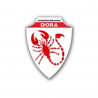 Aufkleber/Sticker Sonderkommando Dora Wappen Abzeichen Scorpion 10x7cm A1286