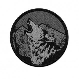 Patch Wolf Gesicht Berge Landschaft Einsamer Illustration Klett Uniform #38351