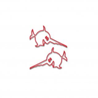 Sägefisch Sticker Schwertfisch Marine Aufkleber Boot U96 Aufkleber 10cm A4994
