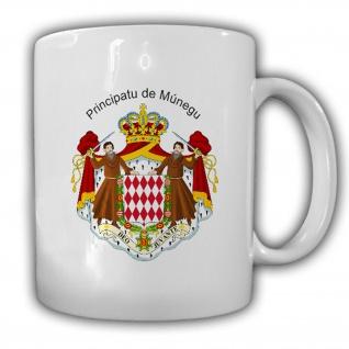 Monaco Wappen Emblem Principatu de Múnegu Kaffee Tasse #13806