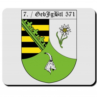 7. Gebirgsjägerbataillon 571 Bundeswehr Wappen Abzeichen Kompanie Mauspad #16472
