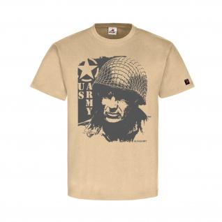 GI US ARMY Soldat Amerika Bild Foto Grafik Stern Uniform Normandy T-Shirt#32260