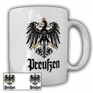 Tasse Die Preußen Typ2 Adler Wappen Emblem Heimat Preußenadler Preuße #22780