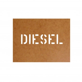 Diesel Kraftstoff Treibstoff Schablone Ölkarton Lackierschablone 2, 5x11cm #15100