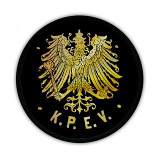 Patch KPEV Königlich Preußische Eisenbahn Verwaltung Wappen Preußen Adler #14680
