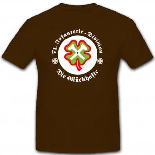 71 InfDiv Infanterie Division Glücksklee Wk Infanteriedivision - T Shirt #2286 - Vorschau 1