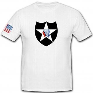 2US Infanteriedivision 2nd InfDiv Abzeichen Militär Wappen SSI - T Shirt #12484