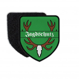 Patch Jagdschutz Forstamt Jagd Revier Wald Schutz Aufnäher Wappen #35422