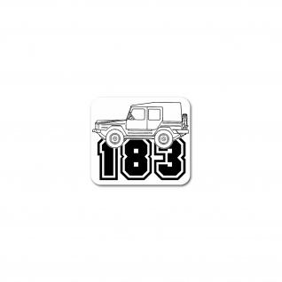 Aufkleber Iltis Typ 183 Geländewagen Militär Fahrzeug Auto Diesel 8x7cm #26561