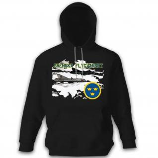 Svenska Flygvapnet Schweden schwedische Luftwaffe Flugzeug - Hoodie #8782