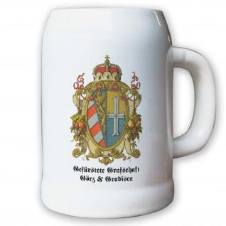 Krug / Bierkrug 0, 5l - Gefürstete Graftschaft Görz und Gradisca Graf #9459