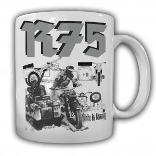 Tasse R75 Gespann Kaffeebecher Militär Gespann Motorrad Geländemotorrad #22022