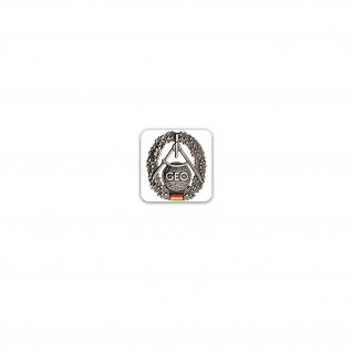 Aufkleber/Sticker Barettabzeichen Topografie Geoinformationsdienst 7x7cm A3203