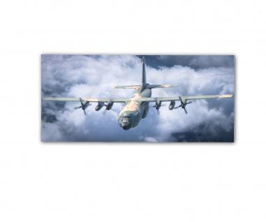 Poster rOEN911 C130H Herkules Frachtflugzeug 356 Geschwader ab30x14cm#30399