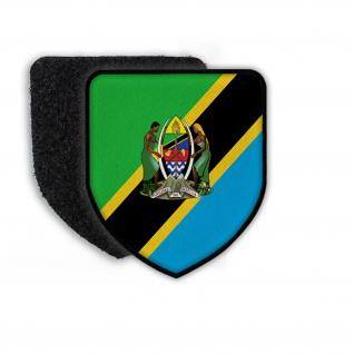 Patch Flagge von Tanzania Vaterland Heimat Landflagge Bundeswappen Land #21704
