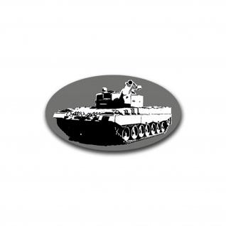 Aufkleber/Sticker Leo 2 A4 Panzer Leopard Deutschland Gefährt BW 7x12cm A1456