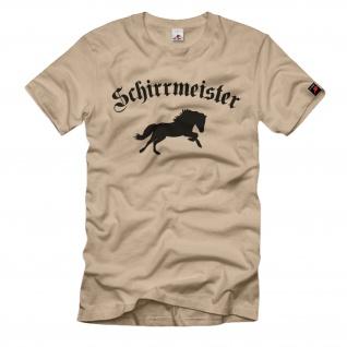 Schirrmeister mit Pferd Instandsetzer Bundeswehr - T Shirt #2747
