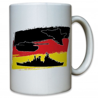 Luftwaffe Heer Marine Deutschland Fahne Flagge Bw - Tasse Kaffee #9990