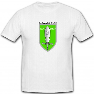 Pzgrenbtl 51 52 Panzergrenadierbataillon 51 52 Militär Bundeswehr T Shirt #4905