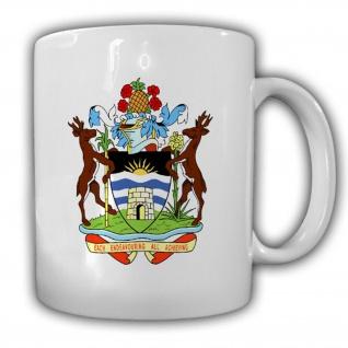 Antigua und Barbuda Karibik Nordatlantik Emblem Abzeichen Wappen - Tasse #13287