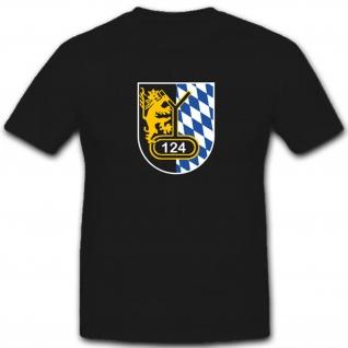 Wappen Abzeichen Pzbtl 124 Bundeswehr Panzerbataillon 124- T Shirt #3983