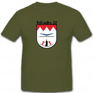 Pzflakbtl 12 Heer WK WH Einheit Wappen Bundeswehr T Shirt #2884