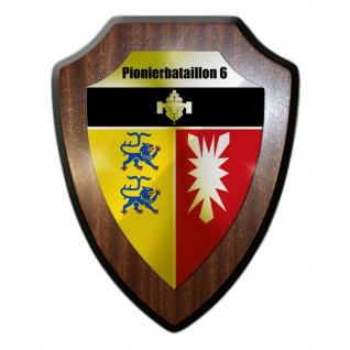 Wappenschild Pionierbataillon 6 PiBtl Bundeswehr Wappen Abzeichen Plön #32978