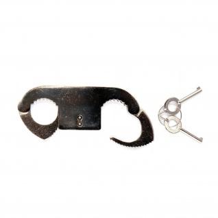 Daumenschelle Bondage Handschelle Polizei Fessel Zehenschelle BDSM Fetisch #18468