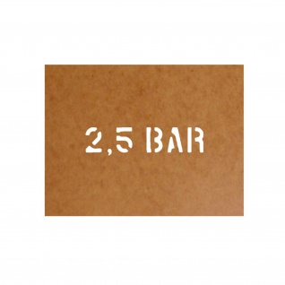 2, 5 bar Schablone Bundeswehr Ölkarton Lackierschablone 2, 5x11cm #15108