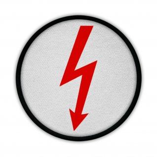 Patch Elektro Blitz Strom Hochspannung 24 V 12 V Elektriker Fun Spaß #15010