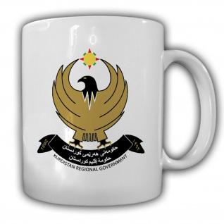 Kurdistan Kurden Fahne Flagge Adler - Tasse Kaffee Becher #13324