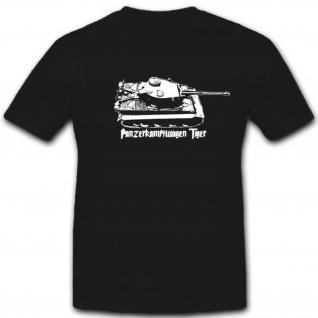 Panzerkampfwagen Tiger Militär WH Fahrzeug Heer WK Panzer - T Shirt #2783