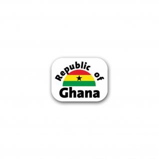 Aufkleber/Sticker Republic of Ghana Land Westafrika Freedom Justice 9x7cm A2582
