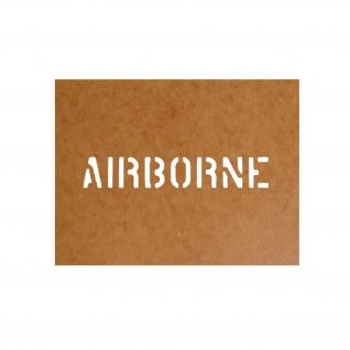 Airborne Schablone Bundeswehr Ölkarton Lackierschablone 2, 5x15cm #15127