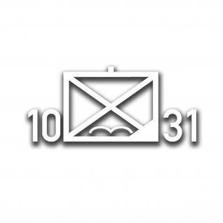 10 Fallschirmjägerregiment 31 Taktisches Zeichen FschJgRgt Zehnte 10x4cmA4484