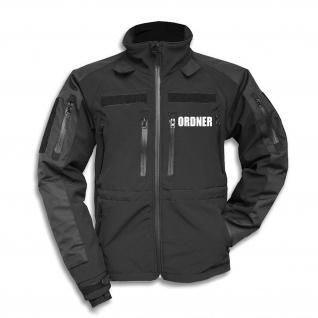 Tactical Softshell Jacke Ordner Regeln Sicherheit Dienst Berufsbekleidung #30184