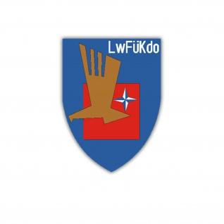 Aufkleber/Sticker Luftwaffenführungskommando LwFüKdo Wappen 6x7cm A1660