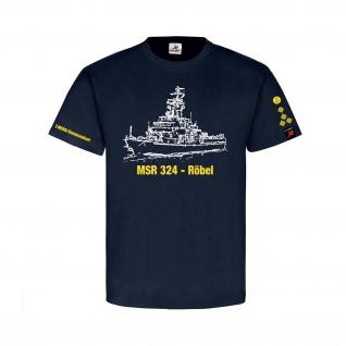 MSR 324 Röbel Kommandant NVA Volksmarine KptLtn DDR T-Shirt #31475
