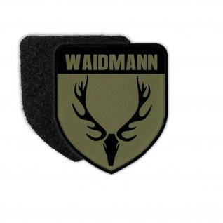 Waidmann Jäger Abzeichen Revier Förster Jagdschutz Hirsch Geweih Patch #32742