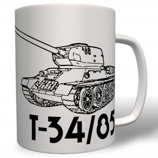T-34/85 Panzer Russland Russia Sowjetunion WK 2- Tasse Becher Kaffee #4823