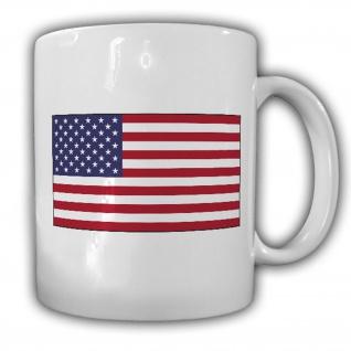 Tasse Vereinigte Staaten von Amerika USA Fahne Flagge Kaffee Becher #14022