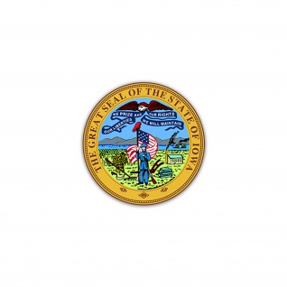 Aufkleber/Sticker Seal of Iowa US Bundesstaat State if Iowa River 7x7cm#A2213